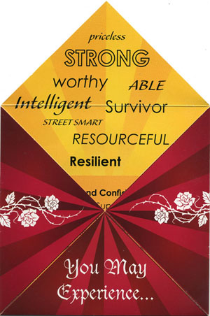 priceless STRONG worthy ABLE Intelligent Survivor STREET SMART RESOURCEFUL Resilient
