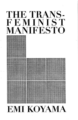 The Transfeminist Manifesto pirated zine cover